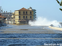 Freak tidal surge on Baracoa