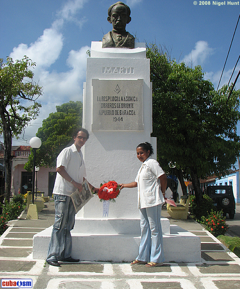 Martí Park in Baracoa City, these days