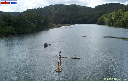 Cayuca on Toa River, Baracoa